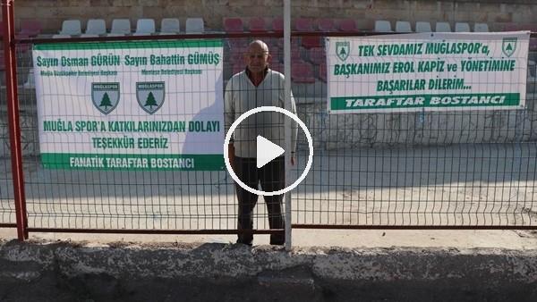63 yaşındaki fanatik taraftar tek başına takımını destekledi