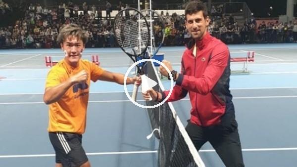 Japon tenisçinin Djokovic hayali gerçek oldu