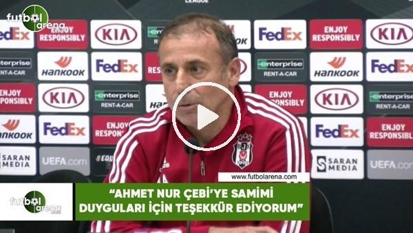"""'Abdullah Avcı: """"Ahmet Nur Çebi'ye samimi duyguları için teşekkür ediyorum"""""""