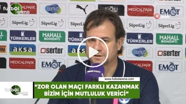 """'Murat Duman: """"Zor olan bir maçı farklı kazanmak bizim için mutluluk verici"""""""