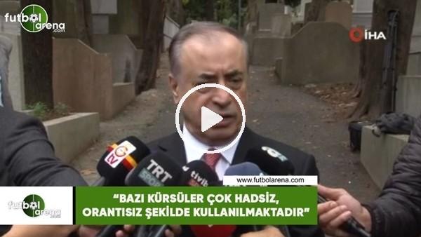 """'Mustafa Cengiz: """"Bazı kürsüler çok hadsiz, orantısız şekilde kullanılmaktadır"""""""
