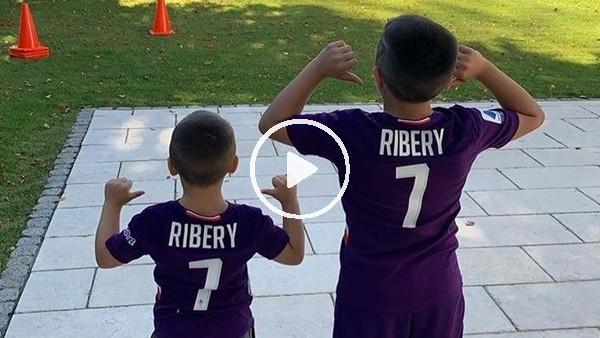 Franck Ribery'den çocuklarıyla antrenman