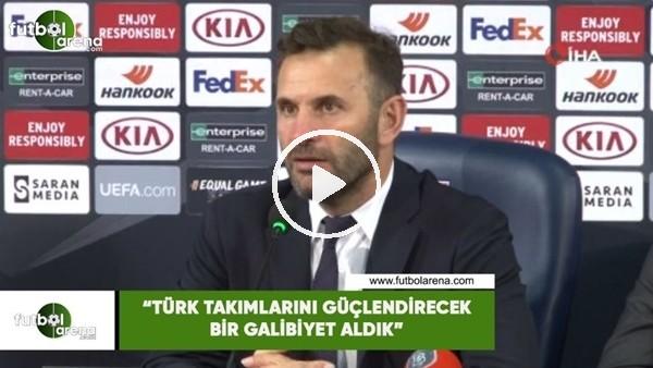 """Okan Buruk: """"Türk takımlarını güçlendirecek bir galibiyet aldık"""""""