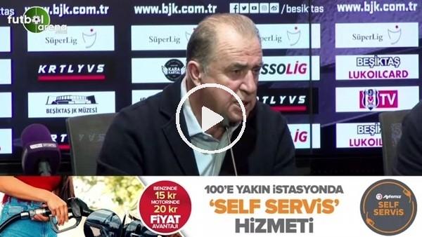 """Fatih Terim: """"Sonuçta koca Beşiktş'a yenildik ama puan olarak Beşiktaş'tan öndeyiz hiçbir zaman pes etmeyiz ve bırakmayız"""""""