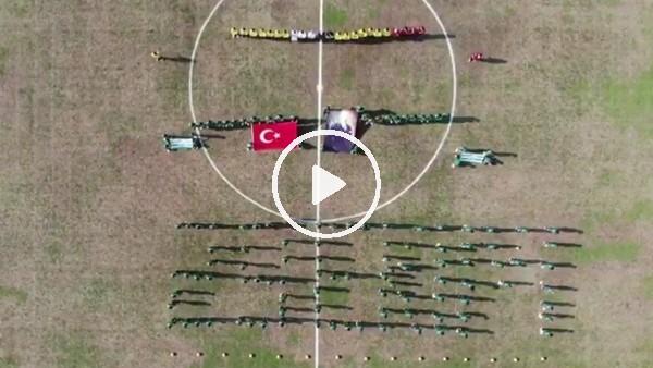 Bursaspor'un altyapı oyuncularından 29 Ekim koreografisi