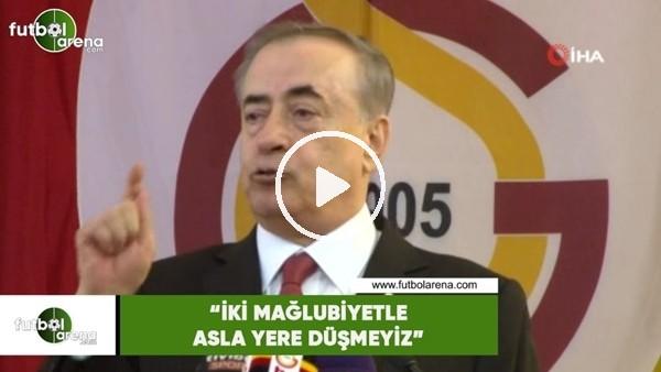 """'Mustafa Cengiz: """"İki mağlubiyetle asla yere düşmeyiz"""""""