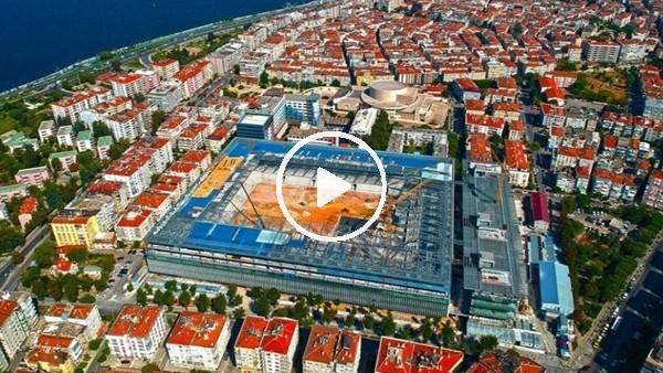 'Göztepe'nin yeni stadının yapımı havadan görüntülendi