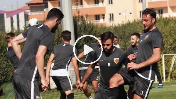'Kayserispor'da futbolcular antrenmana çıktı
