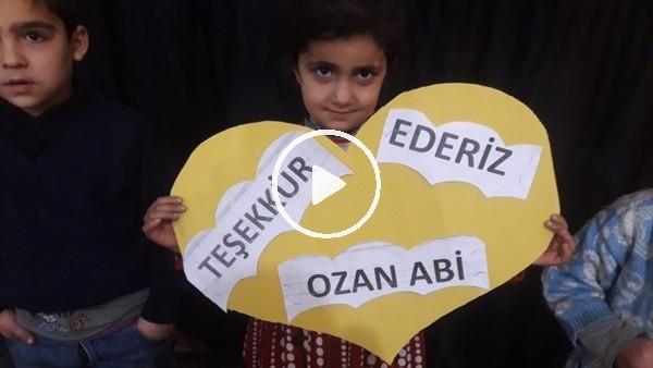 'Ozan Tufan'dan köy çocuklarına anlamlı destek
