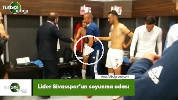 Lider Sivasspor'un soyunma odası.