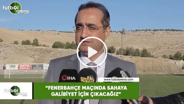 """'Selim Pilten: """"Fenerbahçe maçında sahaya galibiyet için çıkacağız"""""""