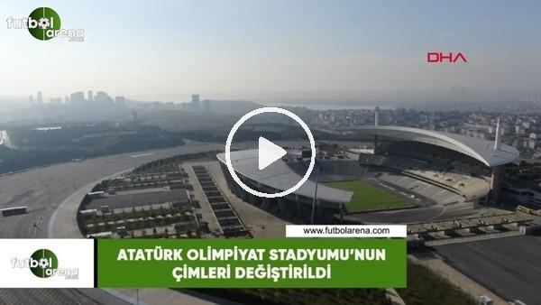 'Atatürk Olimpiyat Stadyumu'nun çimleri değiştirildi