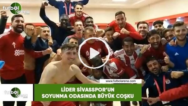 'Lider Sivasspor'un soyunma odasında büyük coşku
