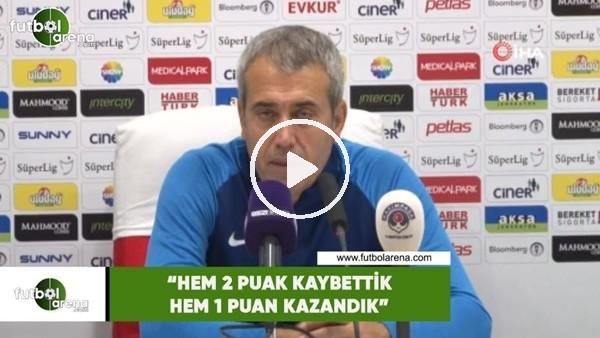 """'Kemal Özdeş: """"Hem 2 puan kaybettik hem de 1 puan kazandık"""""""