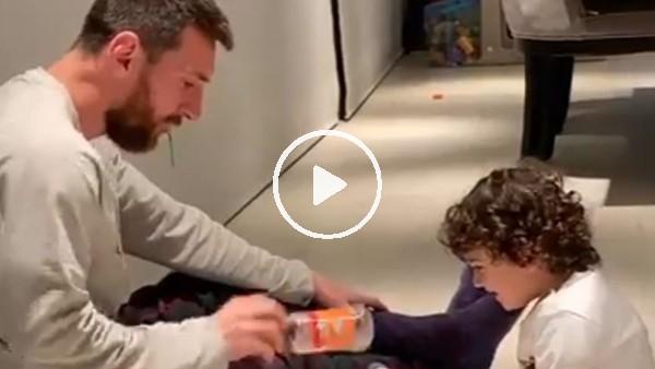 'Messi ve oğlunun keyifli anları