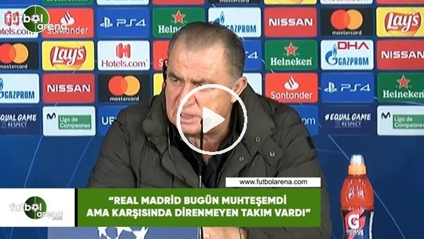"""'Fatih Terim: """"Real Madrid bugün muhteşemdi ama karşısında direnmeyen takım vardı"""""""