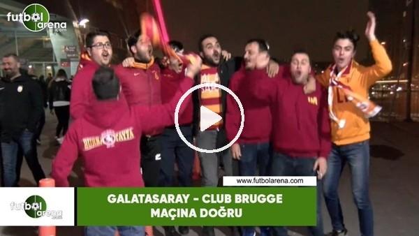 Galatasaray taraftarının Club Brugge maçı öncesi tezahüratları