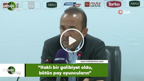 """'Mehmet Özdilek: """"Haklı bir galibiyet oldu, bütün pay oyuncuların"""""""