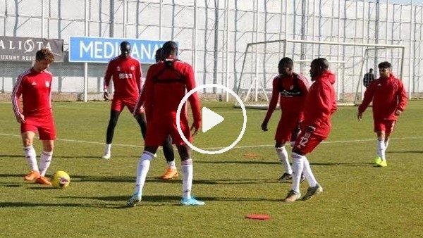 'Sivasspor, Kayserispor maçı hazırlıklarını sürdürdü