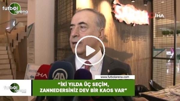 """'Mustafa Cengiz: """"İki yılda üç seçim, zannedersiniz dev bir kaos var"""""""
