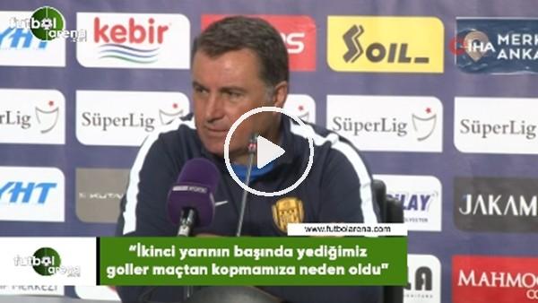"""'Mustafa Kaplan: """"İkinci yarının başında yediğimiz goller maçtan kopmamıza neden oldu"""""""