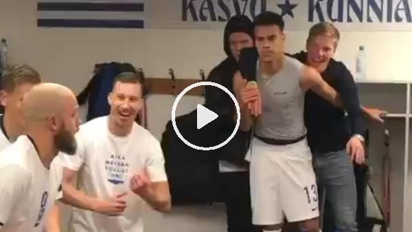 'Finlandiya soyunma odasında Euro 2020 sevinci