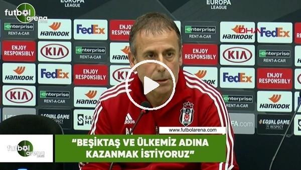 """Abdullah Avcı: """"Beşiktaş ve ülkemiz adına kazanmak istiyoruz"""""""
