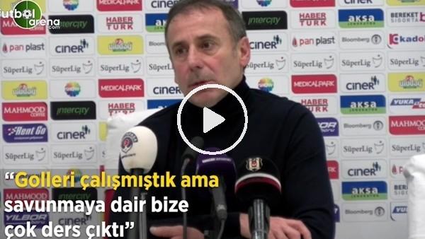 """'Abdullah Avcı: """"Golleri çalışmıştık ama savunmaya dair bize çok ders çıktı"""""""