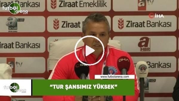 """'Kasımpaşa Antrenörü Erkan Çoker: """"Tur şansımız yüksek"""""""
