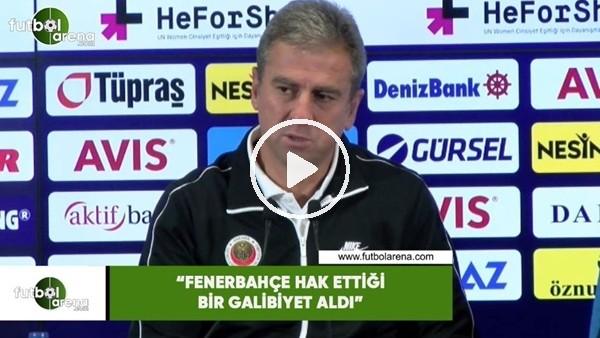 """'Hamza Hamzaoğlu: """"Fenerbahçe hak ettiği bir galibiyet aldı"""""""