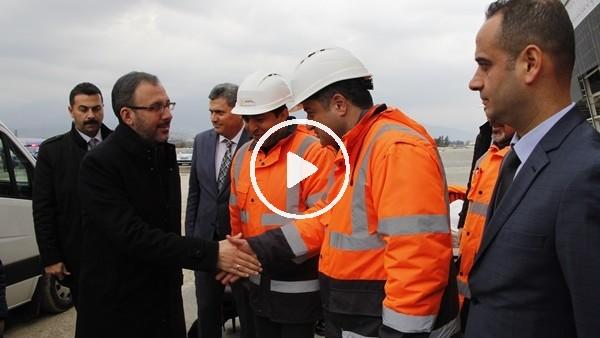 'Bakan Kasapoğlu, Hatay Stadı'nda incelemelerde bulundu