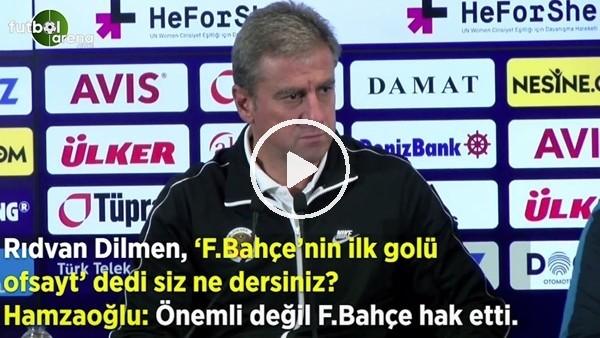 """'Hamza Hamzaoğlu'ndan 'ofsayt' sorusuna: """"Önemli değil Fenerbahçe hak etti"""""""