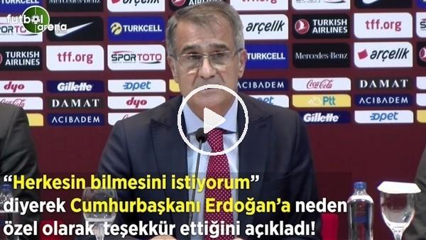 """Şenol Güneş, """"Herkesin bilmesini istiyorum"""" diyerek Cumhurbaşkanı Erdoğan'a neden özel teşekkür ettiğini açıkladı"""