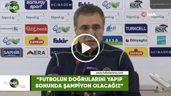 """Ersun Yanal: """"Futbolun doğrularını yapıp sonunda şampiyon olacağız"""""""