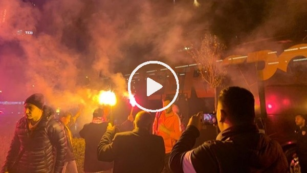 Kayserispor'a İstanbul'da çoşkulu karşılama
