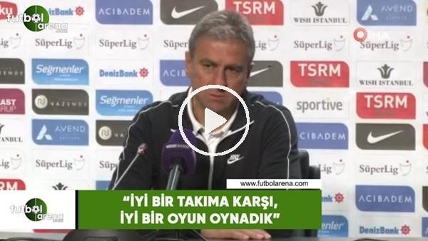 """'Hamza Hamzaoğlu: """"İyi bir takıma karşı, iyi bir oyun oynadık"""""""