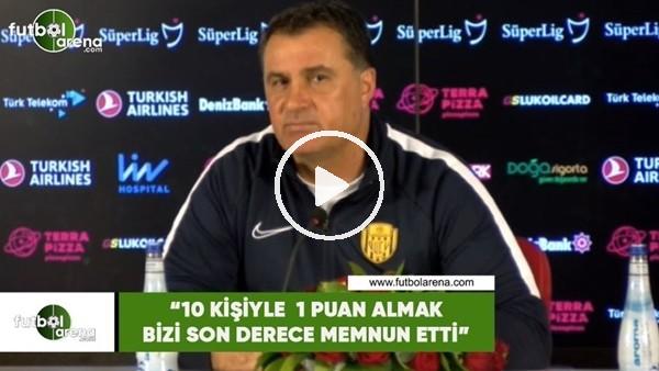 """'Mustafa Kaplan: """"10 kişiyle 1 puan almak bizi son derece memnun etti"""""""