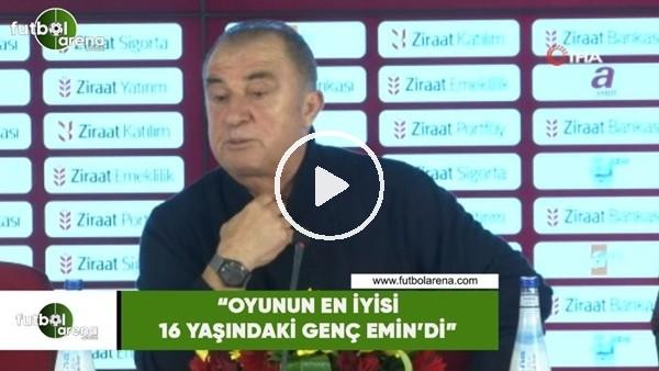 """'Fatih Terim: """"Oyunun en iyi 16 yaşındaki genç Emin'di"""""""