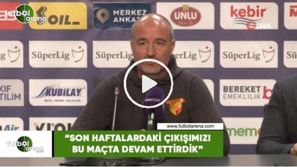 """'Ersan Parlatan: """"Son haftalardaki çıkışımızı bu maçta devam ettirdik"""""""