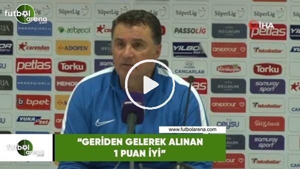 """'Mustafa Kaplan: """"Geriden gelerek alınan 1 puan iyi"""""""