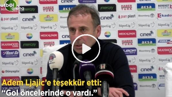 """'Abdullah Avcı, Adem Ljajic'e teşekkür etti: """"Gol öncelerinde o vardı"""""""