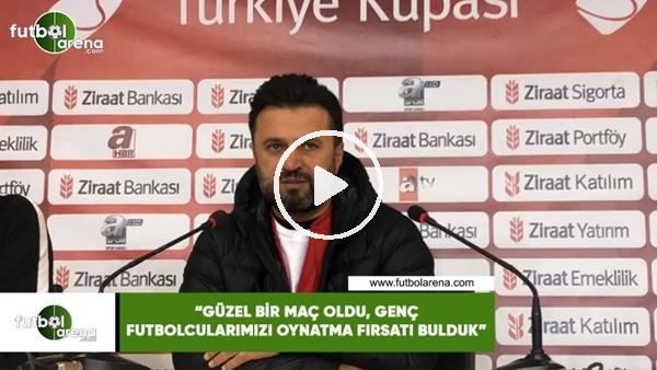 """'Bülent Uygun: """"Güzel bir maç oldu, genç futbolcularımızı oynatma fırsatı bulduk"""""""