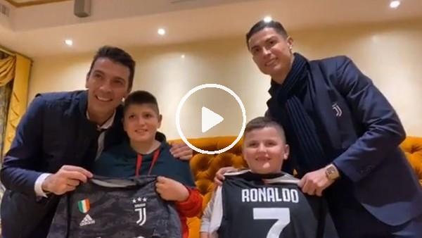 'Ronaldo ve Buffon'dan Arnavut çocuklara sürpriz