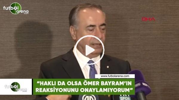 """'Mustafa Cengiz: """"Haklı da olsa Ömer Bayram'ın reaksiyonunu onaylamıyorum"""""""