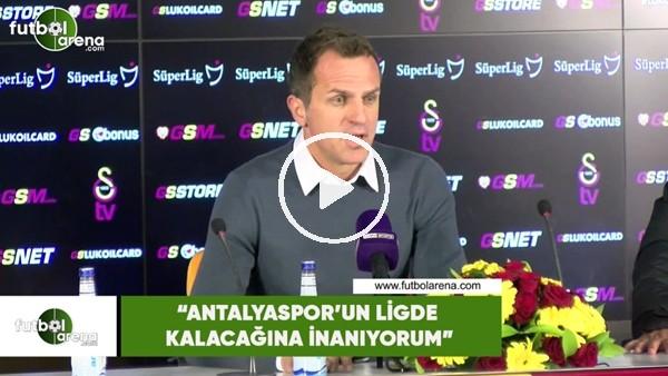 """Stjepan Tomas: """"Antalyaspor'un ligde kalacağına inanıyorum"""""""