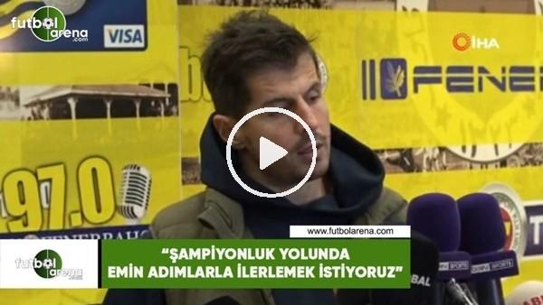 """'Emre Belözoğlu: """"Şampiyonluk yolunda emin adımlaral ilerlemek istiyoruz"""""""