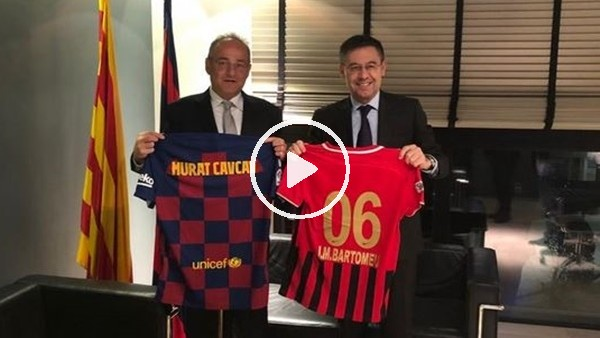 Murat Cavcav'dan Barcelona başkanı Bartomeu'ya ziyaret