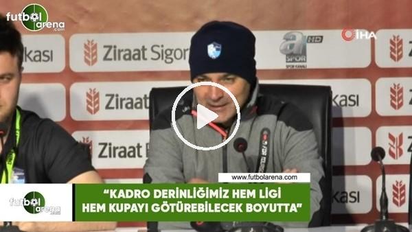 """'Erkan Sözeri: """"Kadro derinliğimiz hem ligi hem kupayı götürebilecek boyutta"""""""