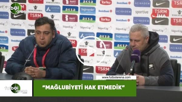 """Marius Sumudica: """"Mağlubiyeti hak etmedik"""""""