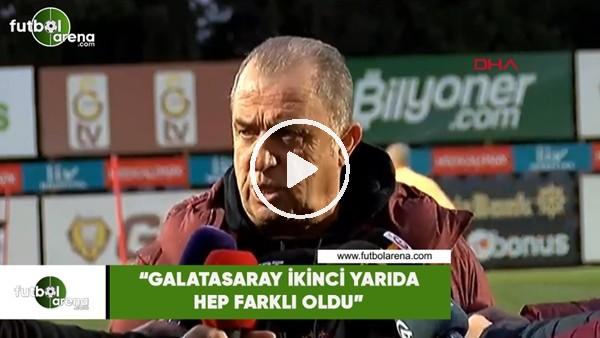 """Fatih Terim: """"Galatasaray ikinci yarıda hep farklı oldu"""""""